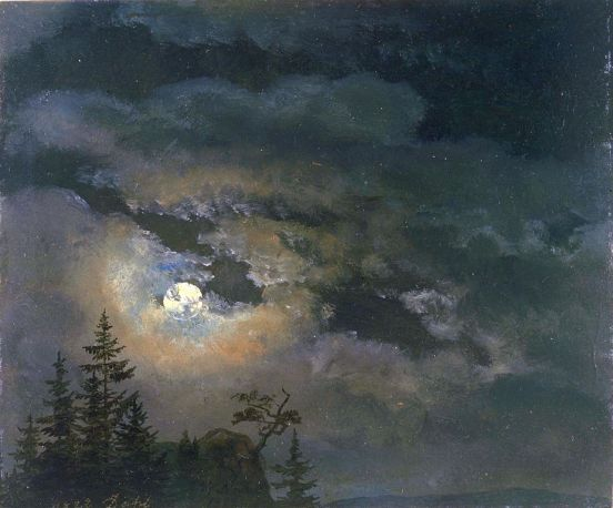 924px-Johan_Christian_Claussen_Dahl_-_En_sky_og_landskap_studie_av_måneskinn